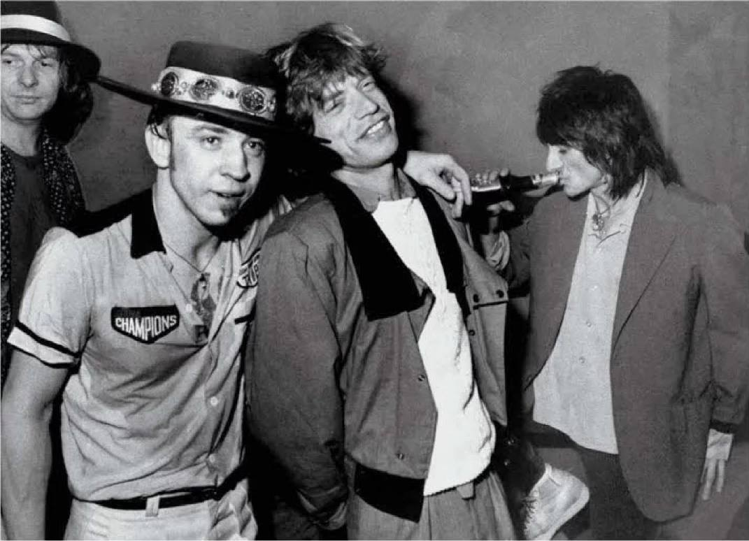 SRV with the Rolling Stones