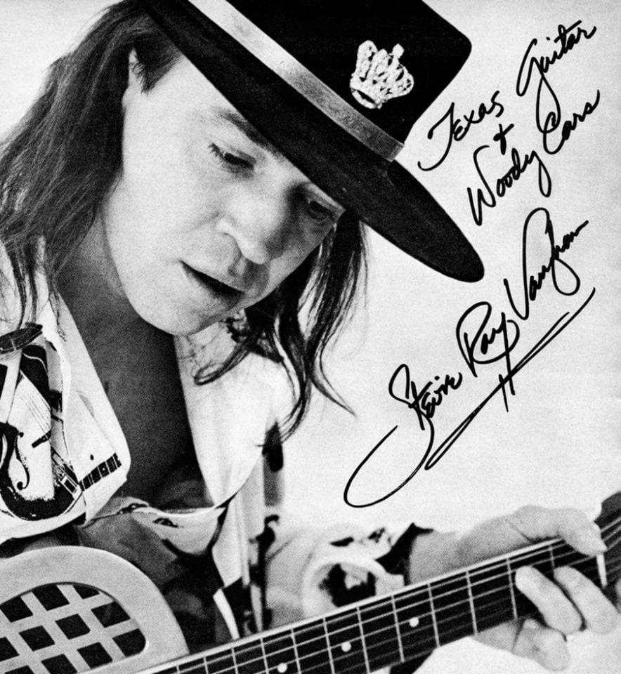 Stevie Ray Vaughan Signed Photo