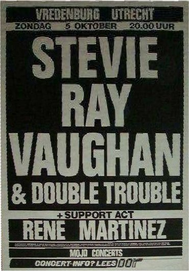 Stevie Ray Vaughan Cancelled Gig Poster
