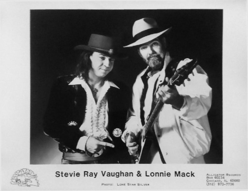 Stevie Ray Vaughan and Lonnie Mack Promo Photo