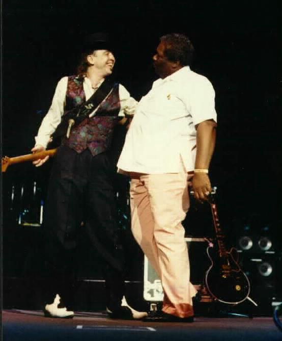 Stevie Ray Vaughan with B.B. King