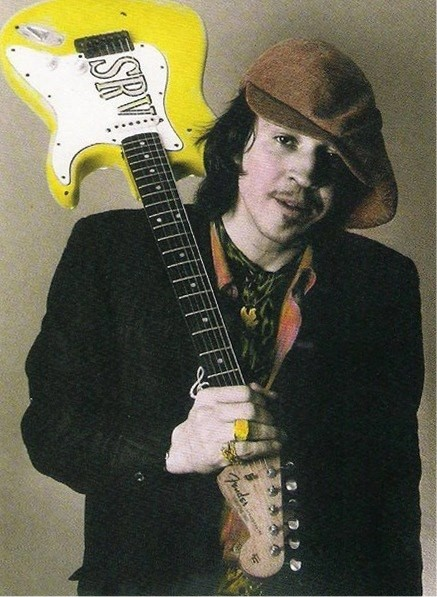 Stevie Ray Vaughan with Yellow Stratocaster