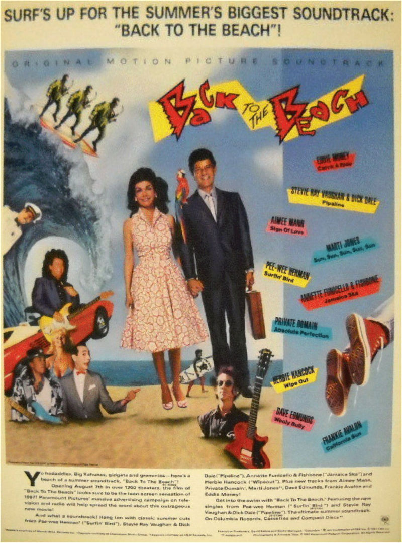 Advert for Back to the Beach Soundtrack