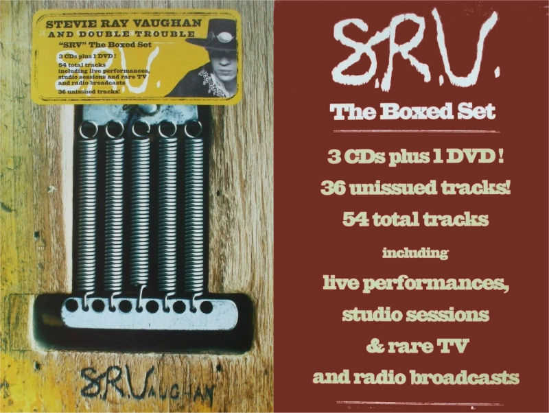 SRV Box Set Record Store Card Display