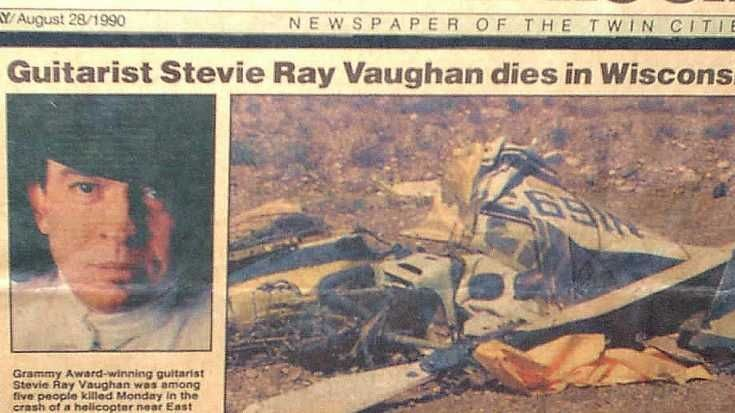 SRV Death Newspaper Report