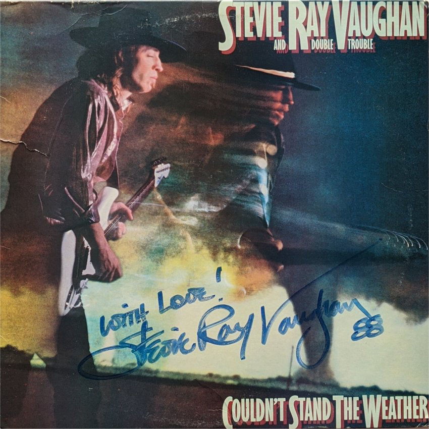 Stevie Ray Vaughan Signed Couldn't Stand the Weather LP