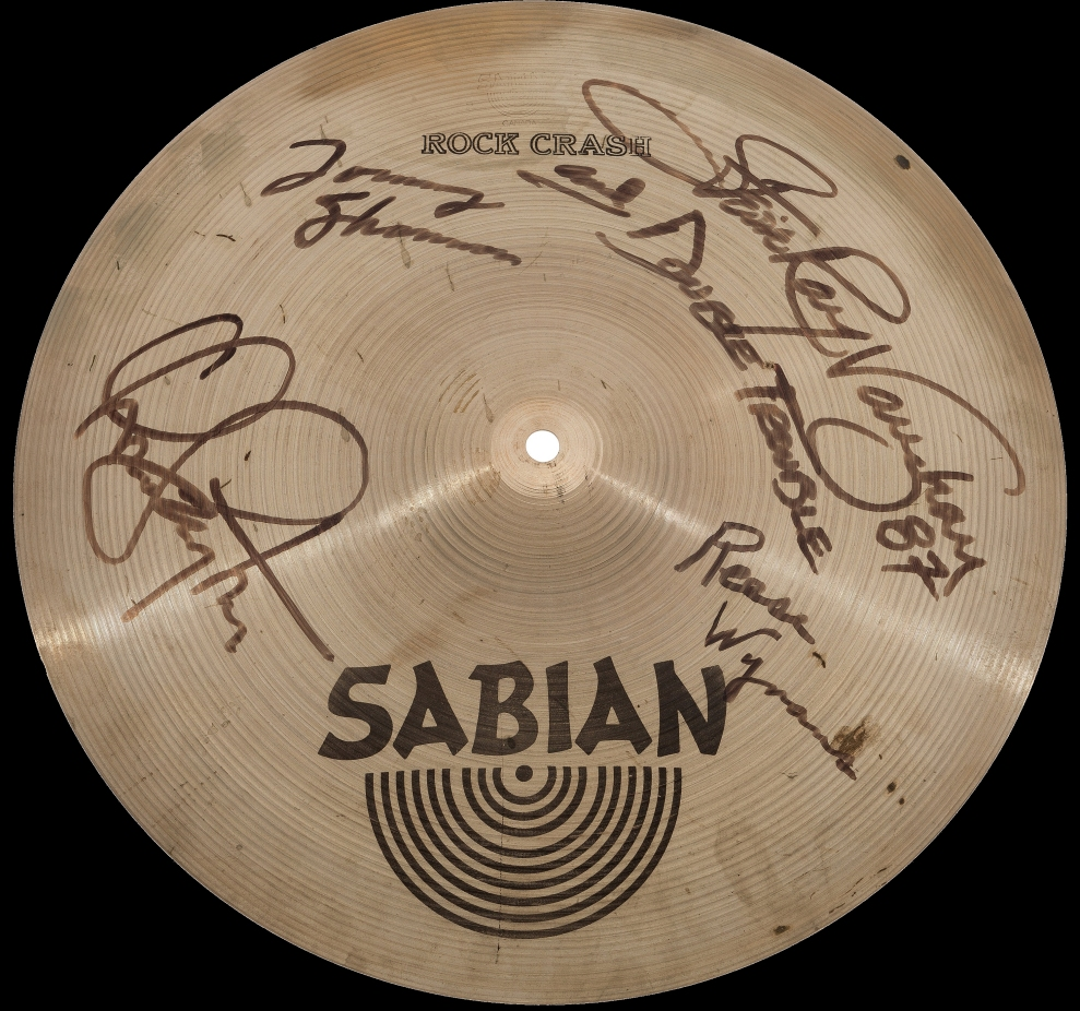Stevie Ray Vaughan Signed Cymbal