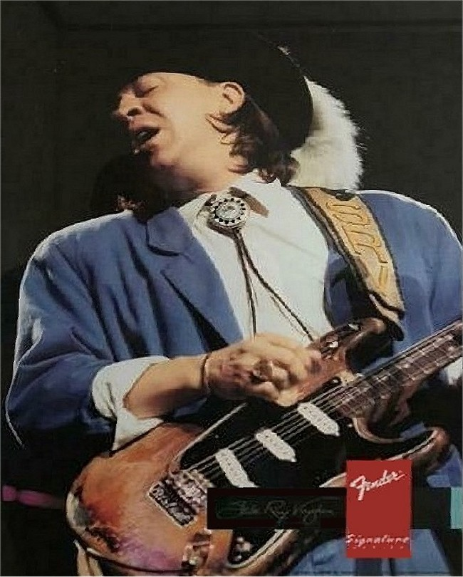 Stevie Ray Vaughan Fender Advertisement