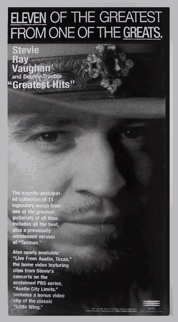 Stevie Ray Vaughan Greatest Hits Advert