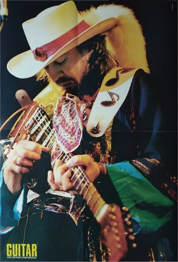 Stevie Ray Vaughan Poster from Guitar magazine