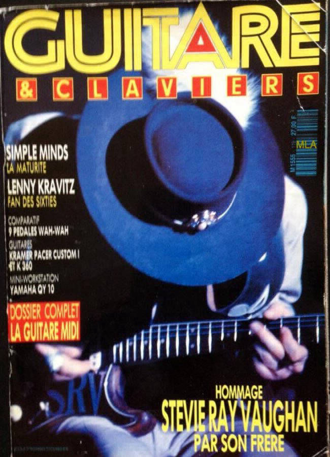 Stevie Ray Vaughan Magazine Cover