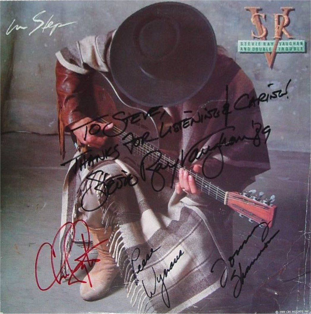 Stevie Ray Vaughan Autographed In Step LP provided by Steve Kalinsky