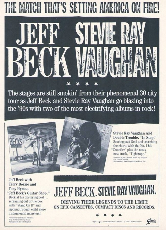 Stevie Ray Vaughan In Step Advertisement