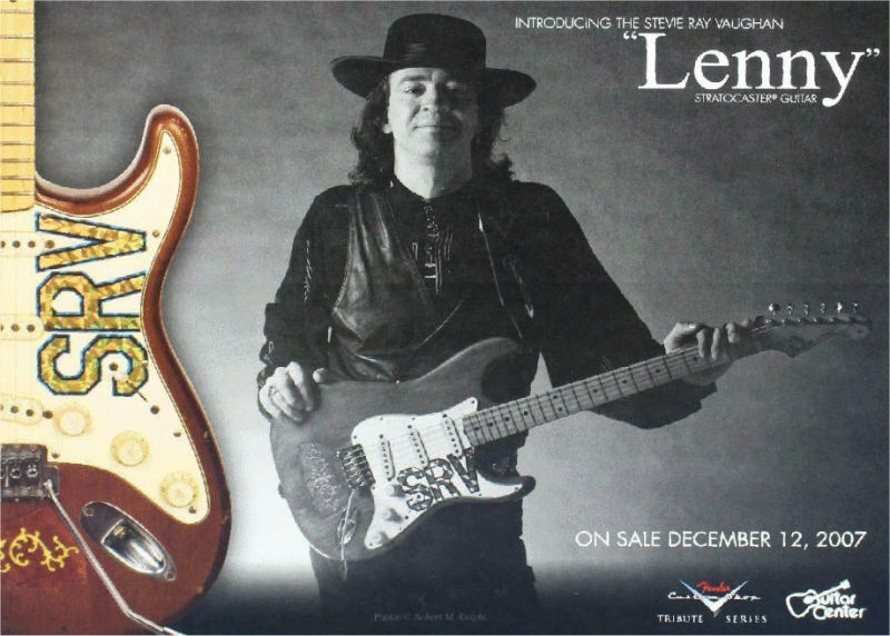Stevie Ray Vaughan Lenny Tribute Guitar Advert