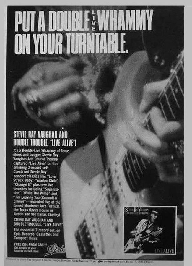 Stevie Ray Vaughan Live Alive Advertisement