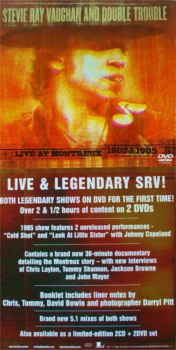 Stevie Ray Vaughan Live at Montreux DVD Advertisement