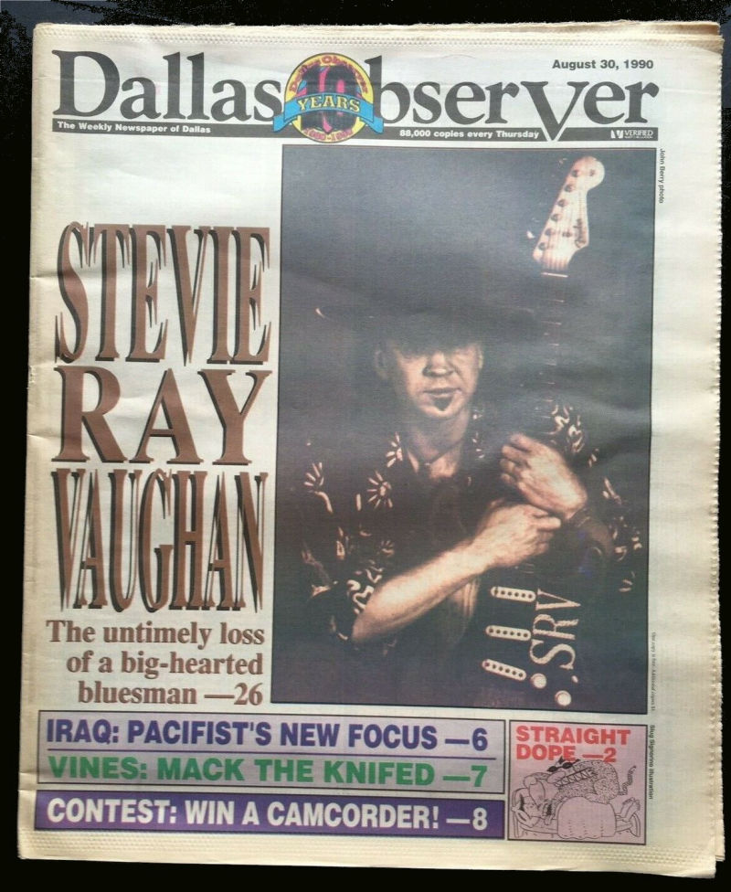 Stevie Ray Vaughan Dallas Observer Obituary