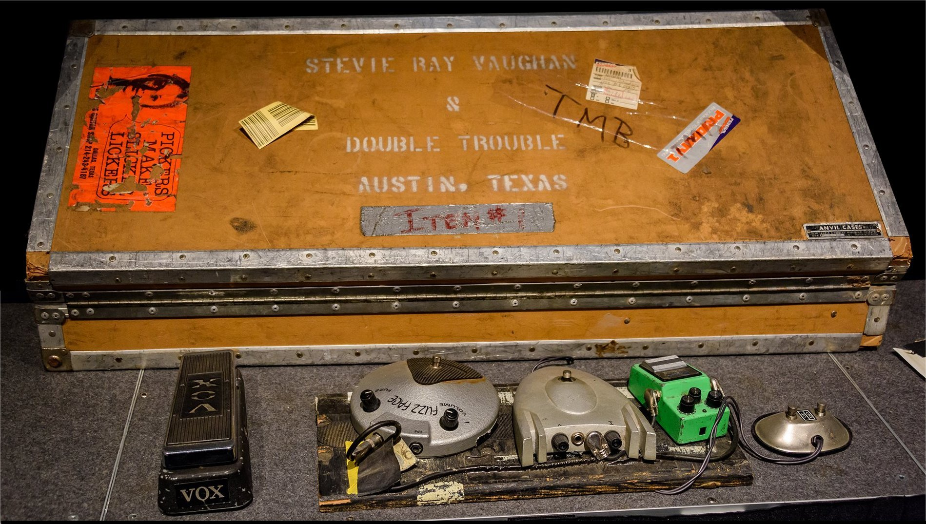 Stevie Ray Vaughan Pedal Board