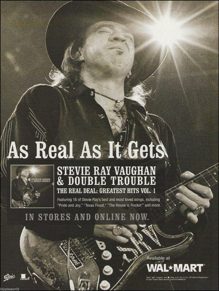 Stevie Ray Vaughan Real Deal Greatest Hits Advert