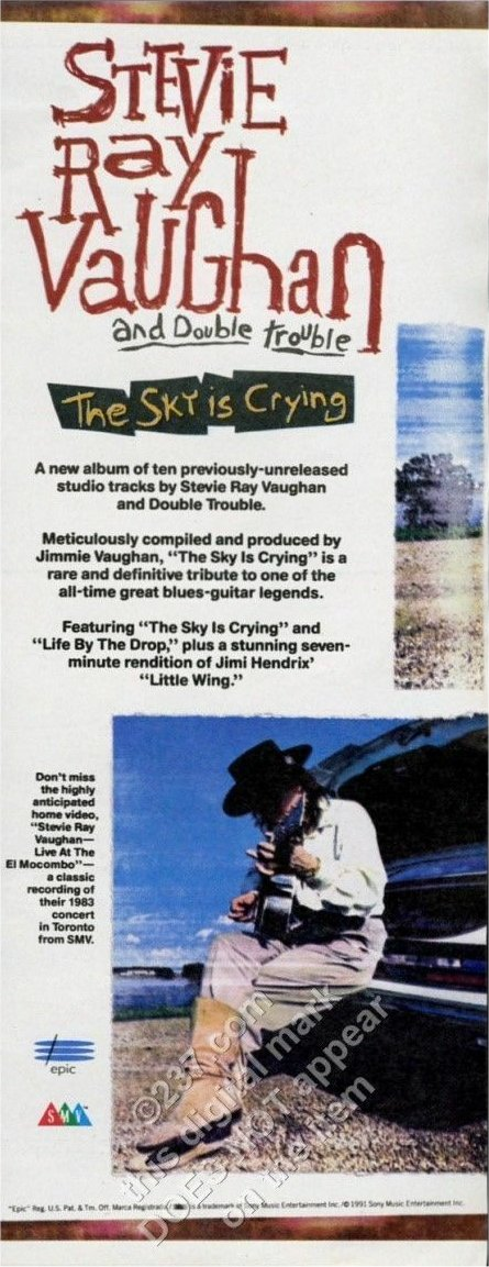 The Sky is Crying Magazine Advert
