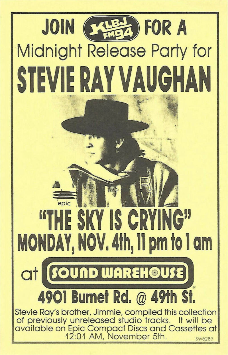 The Sky is Crying Release Advert