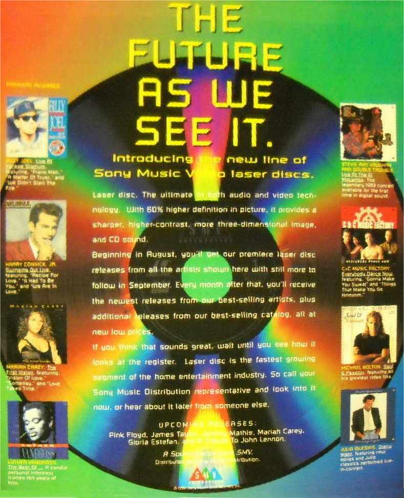 Sony Laser Disc Advert
