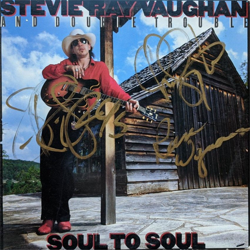 Stevie Ray Vaughan Signed Soul to Soul LP