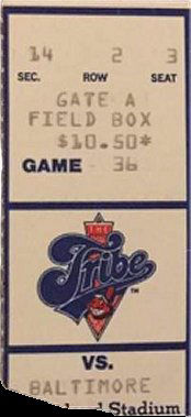 Cleveland Indians vs Baltimore Orioles Ticket